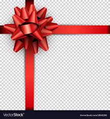 gift wrap ribbon bow with ribbon for gift wrap royalty free vector image