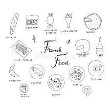 feuille de cuisine traditional cuisine menu stock vector