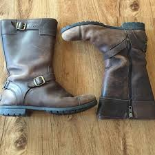 ugg s gershwin boots black 50 ugg shoes ugg gershwin brown leather boots from eleni s