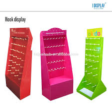 merchandise display case free standing cardboard display with lcd video for merchandise