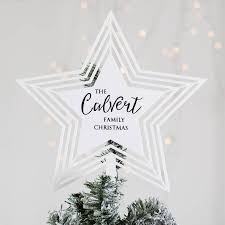 personalised star christmas tree topper by twenty seven