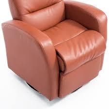 Swivel Club Chair Leather by Aosom Qaba Kids Pu Leather Swivel Recliner Chair Brown