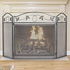 pleasant hearth classic fireplace screen home kitchen