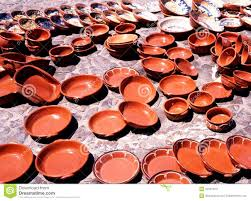 terracotta pots evora portugal royalty free stock images