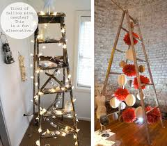 ladder christmas tree ladder decor outdoors