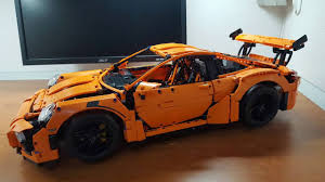 lego porsche 911 gt3 rs lego 42056 porsche 911 gt3 rs mod pf motorized and pf lights youtube