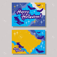 happy halloween vector halloween greeting card with originally written text