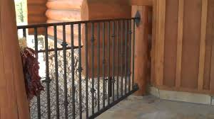 diy log home iron railings by mitchell dillman and king metals