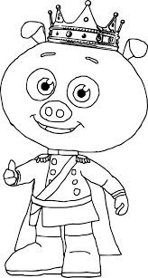 prince pig super why coloring page wecoloringpage