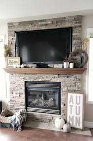 stone fireplace decor fall home tour mantels create and living rooms