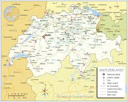 Map Of Europe And Capitals by Administrative Map Of Switzerland Nations Online Project