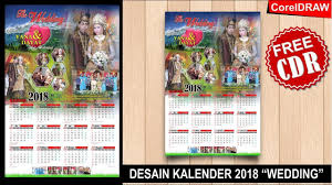 Gambar Kalender 2018 Lengkap Desain Kalender 2018 Dengan Coreldraw Wedding Kalender