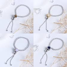 diy silver bracelet images Authentic 925 sterling silver sparkling strand bracelet clear cz jpg