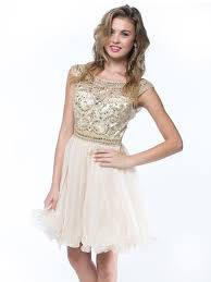 beads and sequin bodice homecoming dress sung boutique l a
