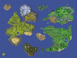 Bravely Default World Map by Chronological Order Of The Dragon Quest Games On Geological Basis