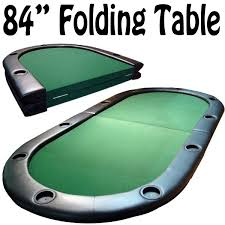 10 player poker table 10 player folding poker table w cup holders 84 x 42