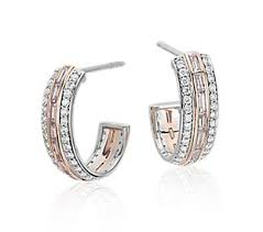 diamond earrings diamond earrings choose from hoops studs drops blue nile
