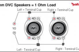 1 ohm wiring diagram 1 ohm subwoofer wiring single 2 ohm dvc