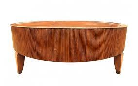 Henredon Coffee Table by Viyet Designer Furniture Tables Henredon Reeded Round
