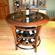 pub table with wine rack wine racks wine rack bar table enthralling kitchen island table