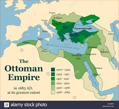 Ottoman Empire Borders The Ottoman Empire At Its Greatest Extent In 1683 Stock Photo