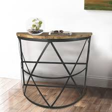Demilune Console Table Industrial Reclaimed Wood Demilune Console Table Dmt 094 The