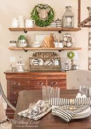 Im Sharon With You Our New BuffetBefore And After Milk - Dining room wall shelves