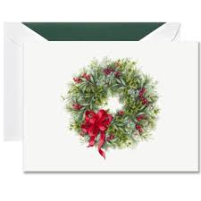 wreath boxed greeting cards crane