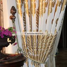Wholesale Country Curtains European Country Champagne Gold Wholesale Curtains