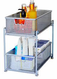 home kitchen storage mesh sliding cabinet basket organizer drawer