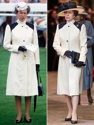 princess anne princess anne wears 40 year old outfit to church with the queen