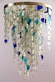 Beachy Chandeliers Chandelier Crafts Seaglass Pinterest Chandeliers Glass