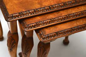 Englisches Esszimmer Gebraucht Dreiteiliges Nest Of Tables Beistelltische Antik