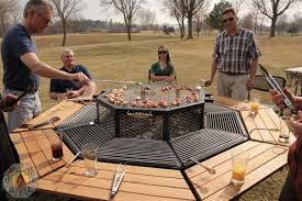 Grill Firepit Your New Favorite Grill Triples As A Picnic Table And Pit