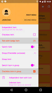 android color menu items pink text color on android o issue 30