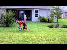 Football Field In Backyard Best Backyard Football Youtube