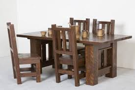 log furniture barnwood 5 piece table and chair set becker