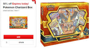 target pokemon black friday 50 off toy of the day at target pokemon charizard box 6 75 reg