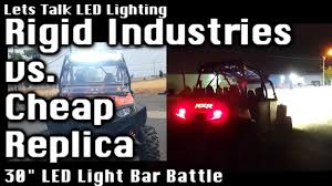 led light bar comparison a must see eye opening comparison rigid industries 30 led light