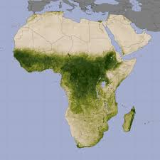 sahel desert map vegetation and rainfall in the sahel image of the day