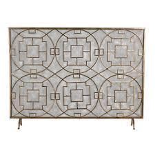 titan lighting geometric single panel fireplace screen tn 891262