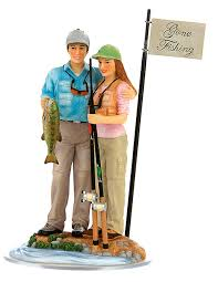 fishing wedding cake toppers unique wedding cake toppers