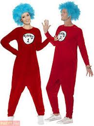 2 Halloween Costume 1 2 Costume Mens Ladies Dr Seuss Fancy Dress