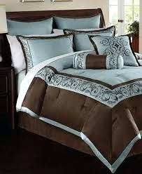 Blue And Brown Bed Sets Brown Comforter Sets Aqua Blue And Brown Comforter Sets Trend Blue
