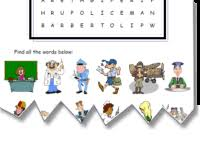 mes english com people and occupations worksheets