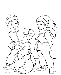 free snowman coloring pages 010