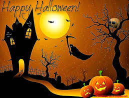 halloween horizontal background black cats with halloween wishes horizontal border on white
