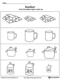 kindergarten activities big and small smallest 2 worksheets fișă darius pinterest worksheets math