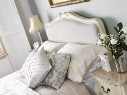 Shabby Chic White Bed Frame by Juliette Shabby Chic Champagne Upholstered Double Bed 4ft6 Cream