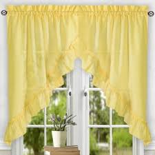 yellow u0026 gold valances u0026 kitchen curtains you u0027ll love wayfair